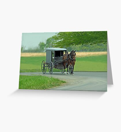 Country Ride Greeting Card
