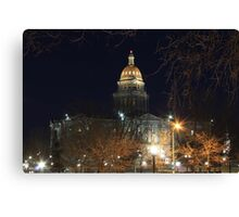 Denver At Night 1 Canvas Print