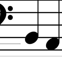b a b e (Black on White/Colour Version) Sticker
