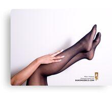 Black Pantyhose, Brown Legs Canvas Print