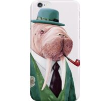 Walrus Green iPhone Case/Skin