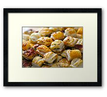 Savoury Pastry Selection Framed Print