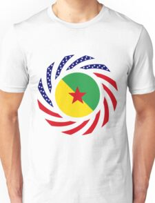 French Guianan American Multinational Patriot Flag Series Unisex T-Shirt
