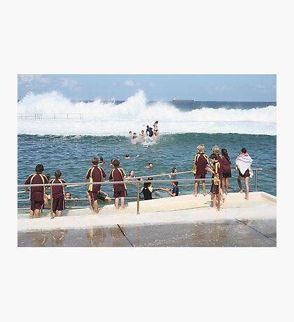 King Tide at Newcastle Baths Photographic Print