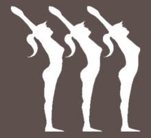 Silhouette of three stretching by moydesign