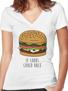 If Looks Could Kale Women's Fitted V-Neck T-Shirt