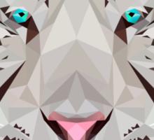 Low-Poly White Tiger Sticker