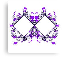 Purple Ink Canvas Print