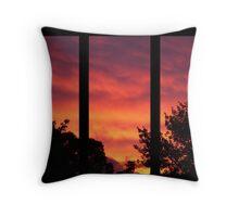 Flaming Sunset Throw Pillow