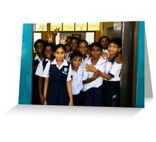 Happy School Children Greeting Card