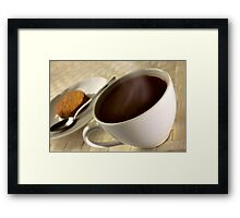 Black coffee for breakfast close up Framed Print