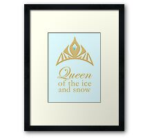 Queen of the Ice and Snow Framed Print