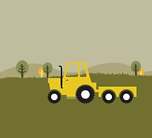 tractor in the country khaki - smaller by nellifant