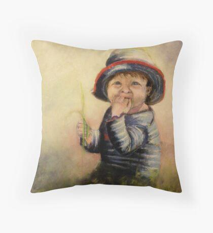 Miss Grubby Face Throw Pillow