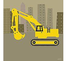 big city digger Photographic Print