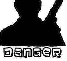 Danger Zone Black Print by ThwartedBear