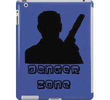 Danger Zone Black Print iPad Case/Skin