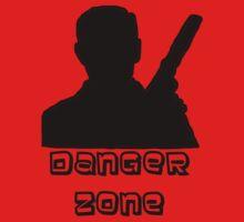 Danger Zone Black Print Kids Tee