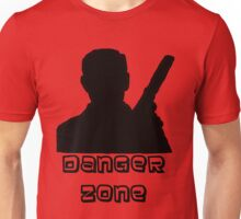 Danger Zone Black Print Unisex T-Shirt