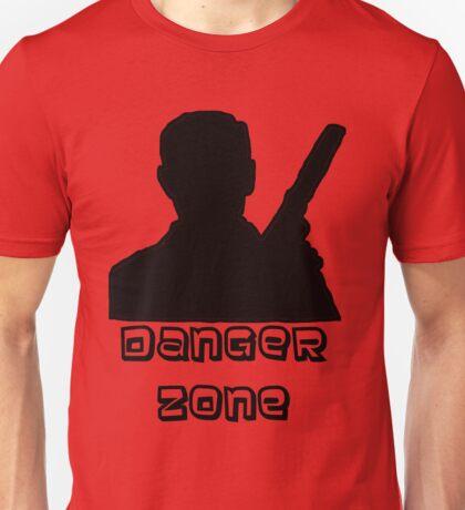 Danger Zone Black Print Unisex T-Shirt