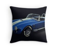 Shelby Cobra 427 Blue with White Stripe Throw Pillow