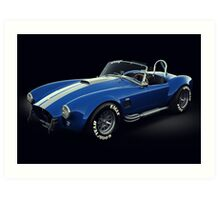 Shelby Cobra 427 Blue with White Stripe Art Print