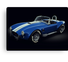 Shelby Cobra 427 Blue with White Stripe Canvas Print