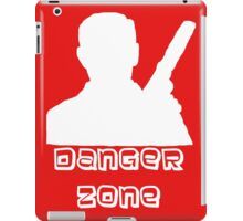 Danger Zone White Print iPad Case/Skin