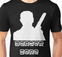 Danger Zone White Print Unisex T-Shirt