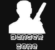 Danger Zone White Print Unisex T-Shirt