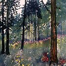 """Conifers at Cod Beck"" by Glenn  Marshall"