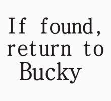 If found, return to Bucky by kryzanty
