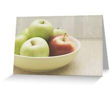 Odd Apple In Greeting Card