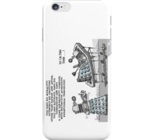 PSYCHOANALYSIS OF A DALEK iPhone Case/Skin