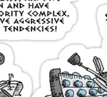 PSYCHOANALYSIS OF A DALEK Sticker