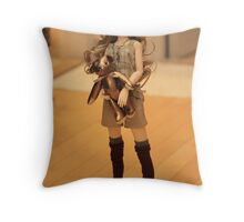 warm with teddy Throw Pillow