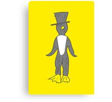 penguin gentleman Canvas Print