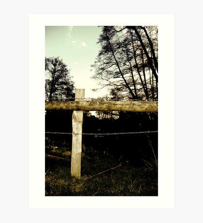 Barbwire Fence! Art Print