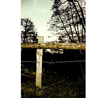 Barbwire Fence! Photographic Print