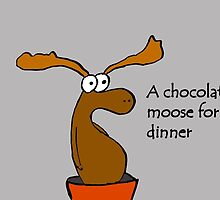A chocolate moose for dinner by banditbeans