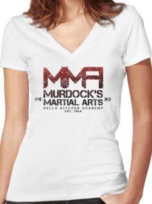 MMA - Murdock's Martial Arts (V02) Women's Fitted V-Neck T-Shirt
