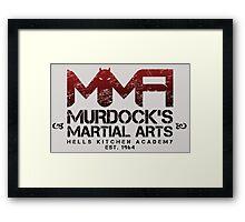 MMA - Murdock's Martial Arts (V02) Framed Print