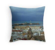 Cadiz Spain Throw Pillow