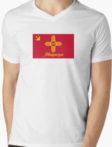 Flag of Albuquerque Mens V-Neck T-Shirt