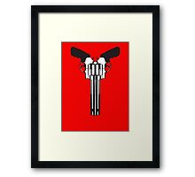 Smith and Wesson cow skull Framed Print