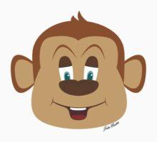 Cartoon Monkey Baby Tee