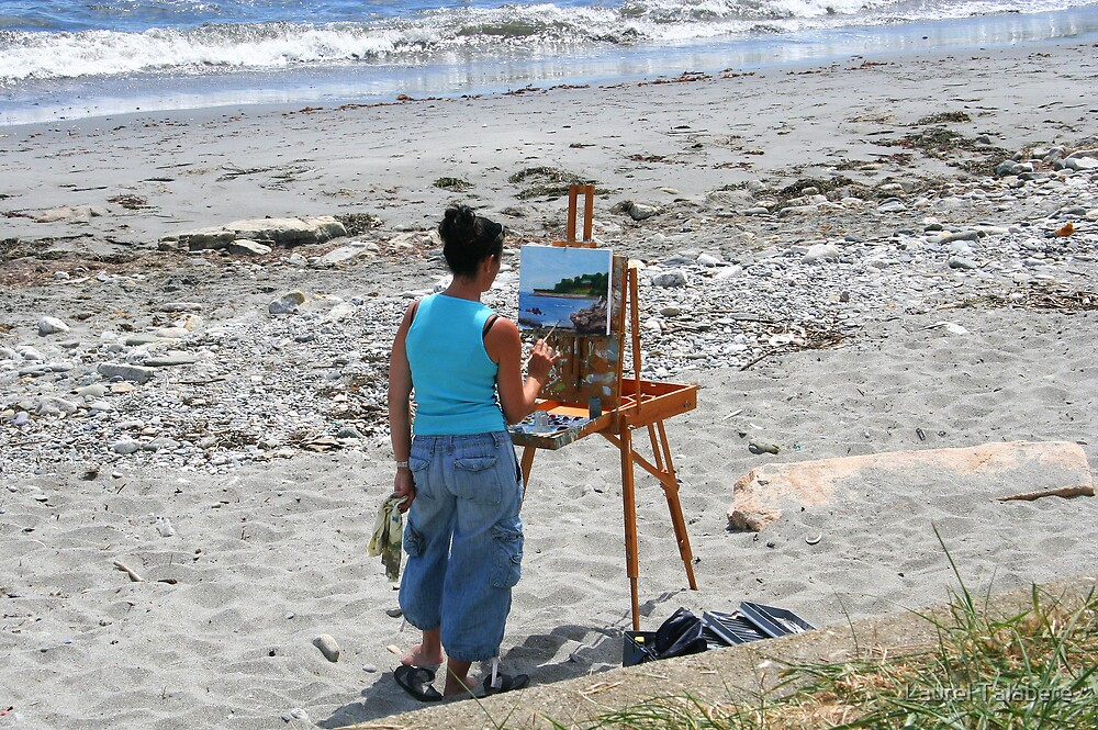 Painting the Sea by Laurel Talabere