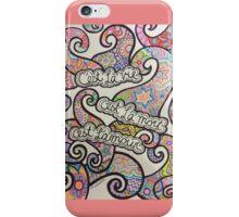 French Quote Drawing: C'est La Vie, C'est La Mort, C'est L'amour iPhone Case/Skin