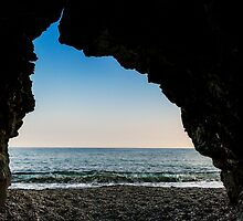 Charlestown Beach Cave,South Cornwall by Laura Davey