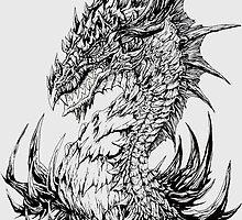 Regal Dragon - ink by drakhenliche